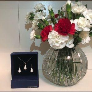 Swarovski Teardrop Earrings and Necklace Set